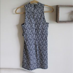 Topshop mock tank dress with side cutouts